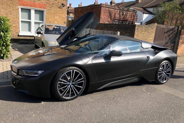 BMW I8 Matte Black Wrap 4