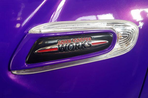 Purple MINI Jcw 3