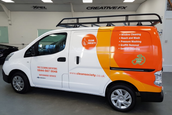 Clean Society Van Wrap 1