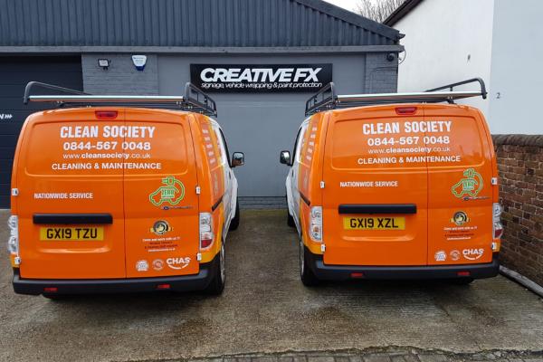 Clean Society Van Wrap 2