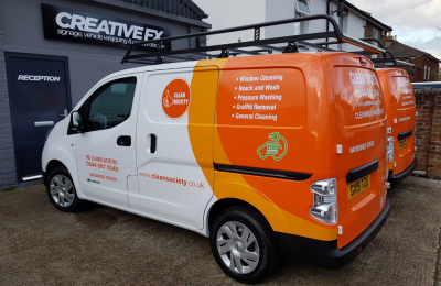 COMMERCIAL LIVERY & REAR WRAP – CLEAN SOCIETY