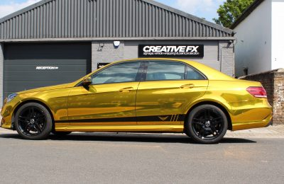 GOLD CHROME – E CLASS MERCEDES-BENZ