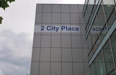 VINYL LETTERING – 2 CITY PLACE