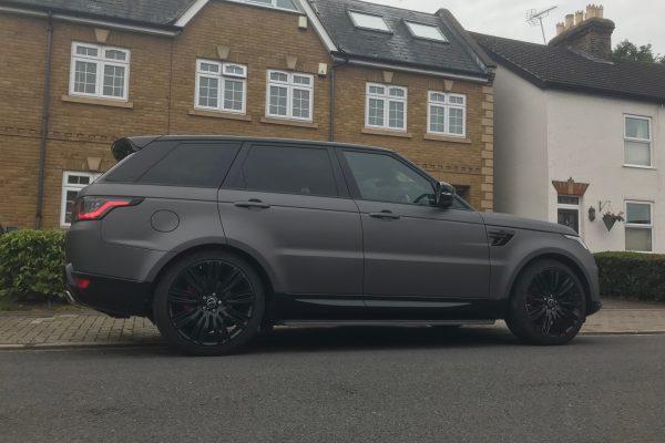 Matte Metalic Charcoal Range Rover Wrap 1