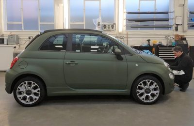 FIAT 500 – SATIN GREEN WRAP
