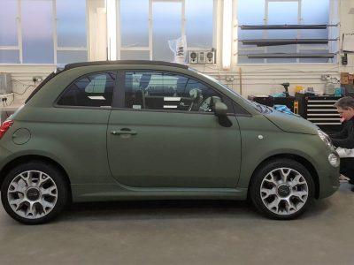 FIAT 500 – SATIN GREEN WRAP