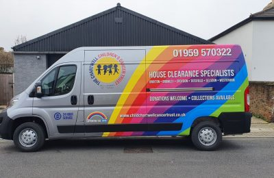 CHARTWELL CANCER TRUST – REAR RAINBOW WRAP AND LIVERY