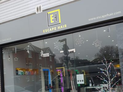 METAL BACK-LIT FASCIA – ESCAPE HAIR