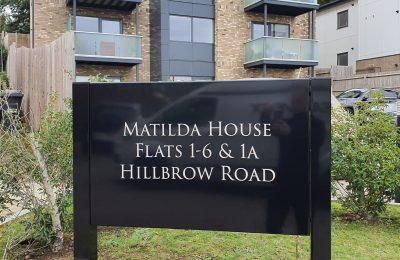 EXTERIOR METAL POST SIGNAGE – MATILDA HOUSE