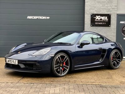 XPEL ULTIMATE FRONT END AND SIDE SILLS COVERAGE – PORSCHE 718 CAYMAN GTS