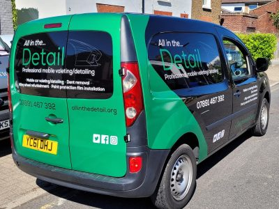 ALL IN THE DETAIL – VAN WRAP AND VINYL TEXT